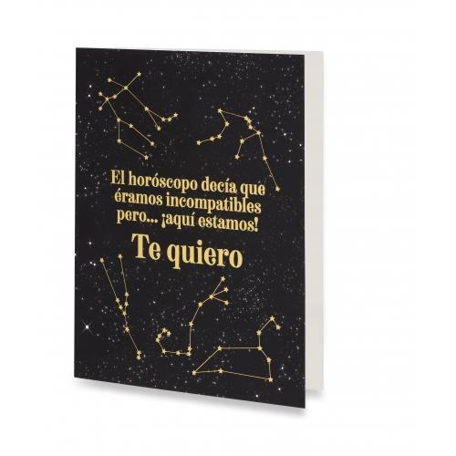 """Tarjeta """"Te quiero"""" de Horóscopo Negro"""