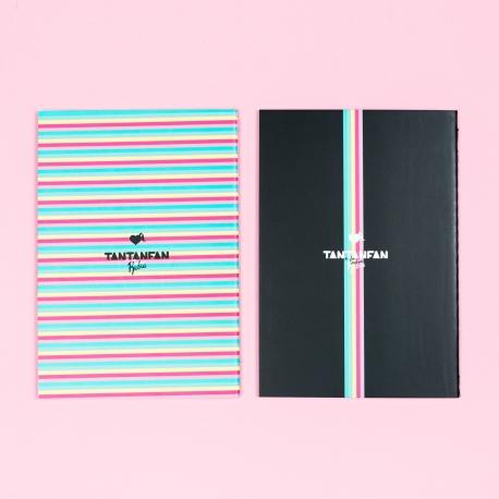 """Pack 2 cuadernos cosidos """"Arcoíris"""" de La Vecina Rubia"""