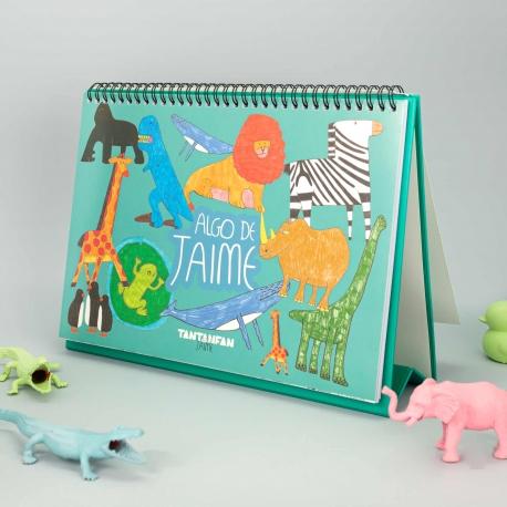 Cuaderno de dibujo con pegatinas de Algo de Jaime