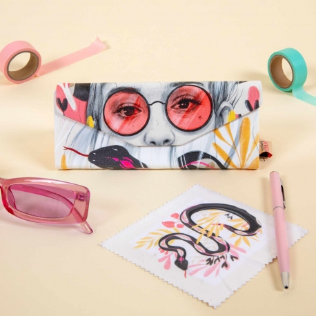 Funda de gafas + paño de Naranjalidad