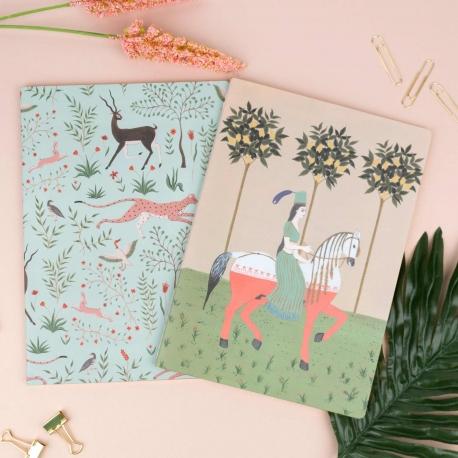 Pack dos cuadernos cosidos de Brianda