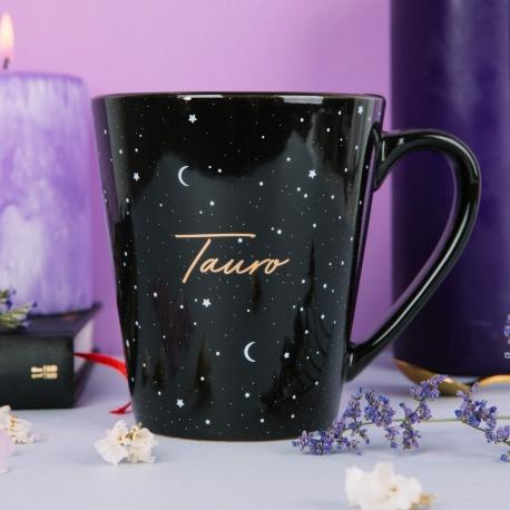 Taza mug Horóscopo Negro Tauro