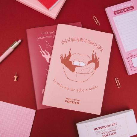 Pack 2 cuadernos cosidos Animalismo Poético